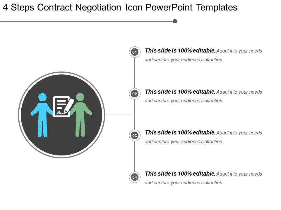 4_steps_contract_negotiation_icon_powerpoint_templates_Slide01