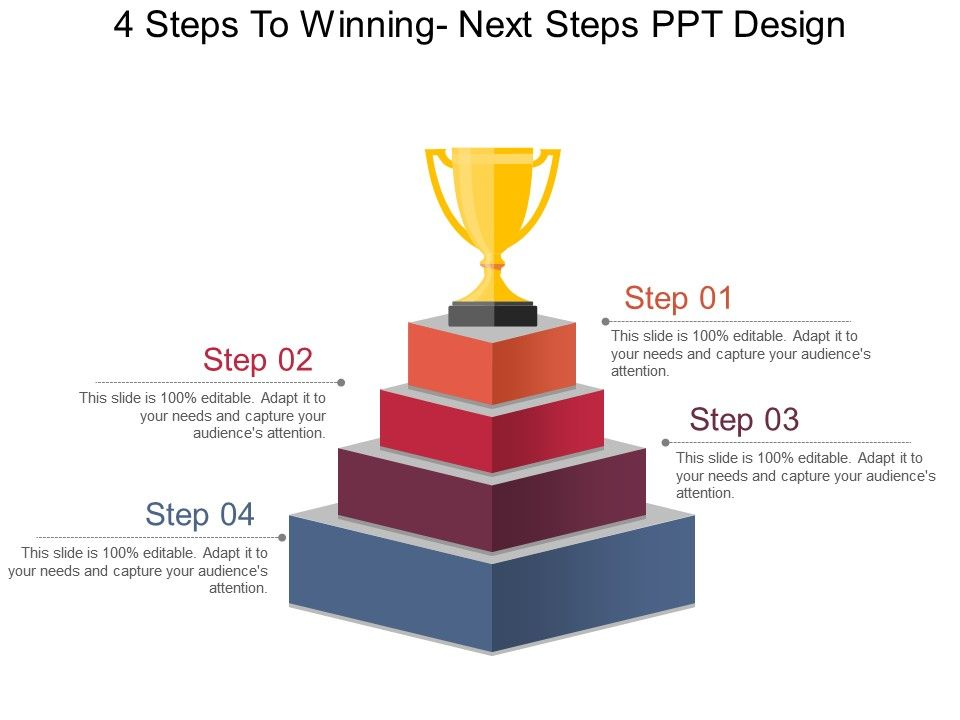 4 steps to winning next steps ppt design templates powerpoint