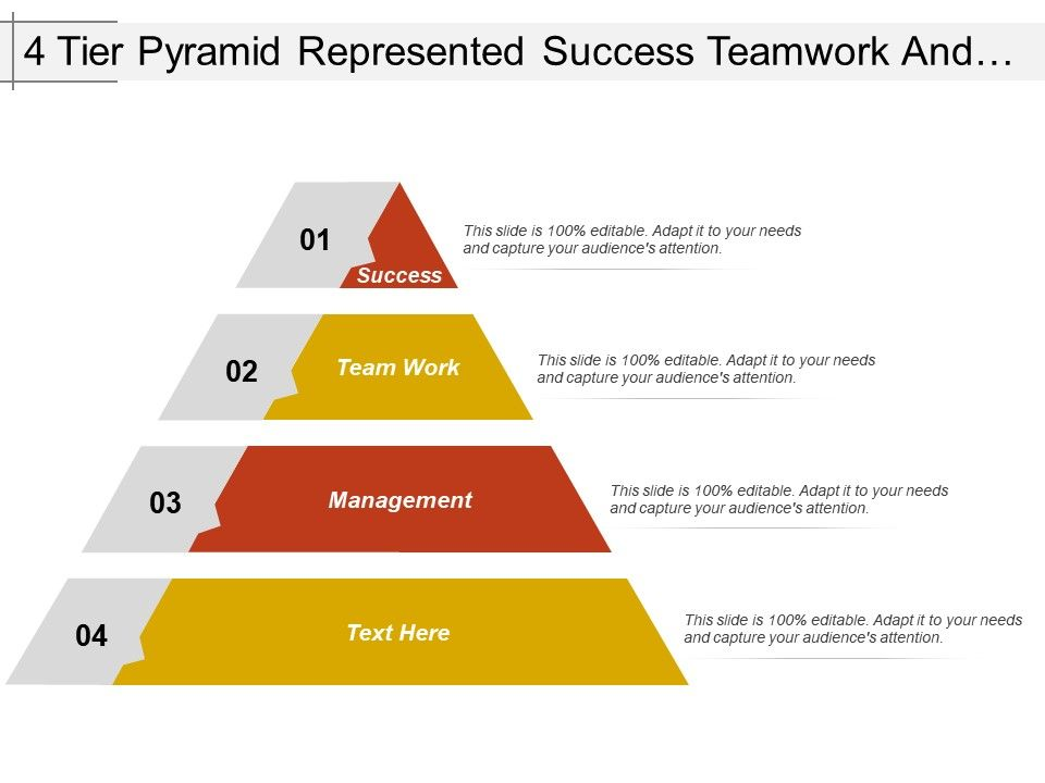4_tier_pyramid_represented_success_teamwork_and_management_Slide01
