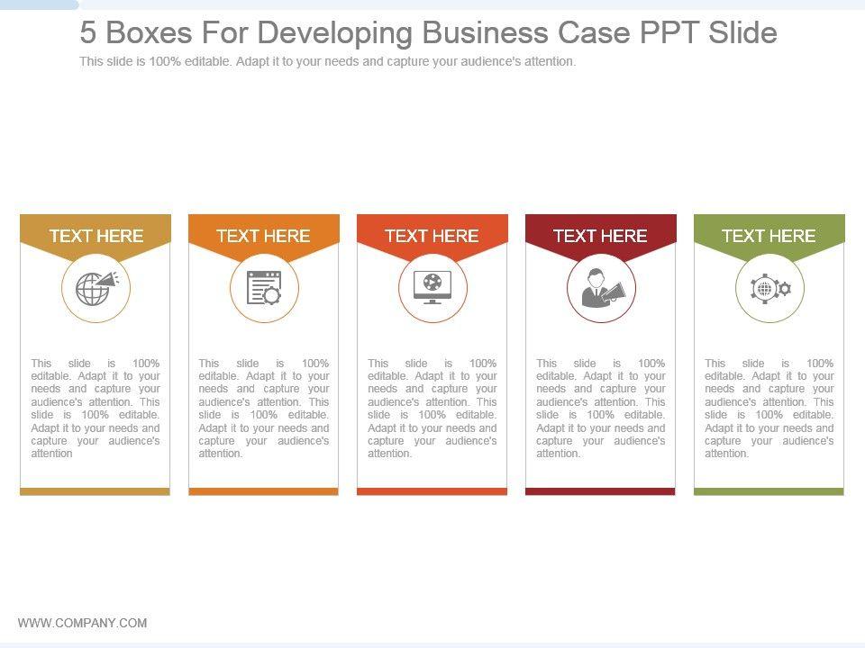 5_boxes_for_developing_business_case_ppt_slide_Slide01