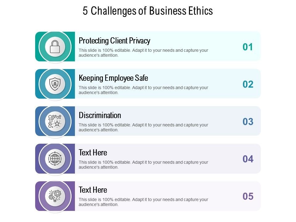 5 Challenges Of Business Ethics