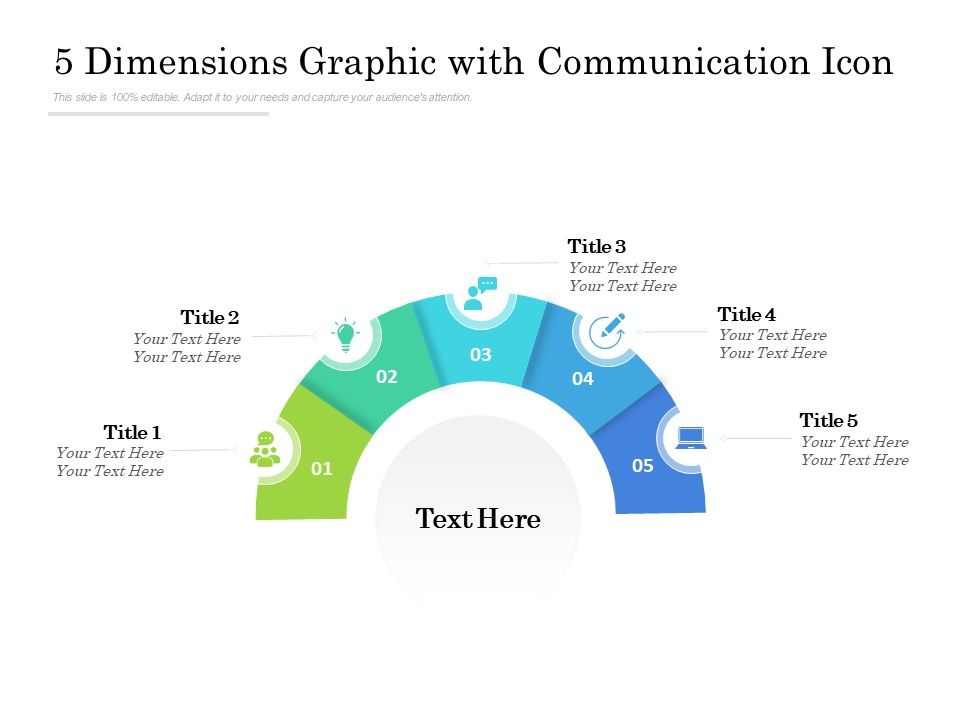 5 Dimensions Graphic With Communication Icon