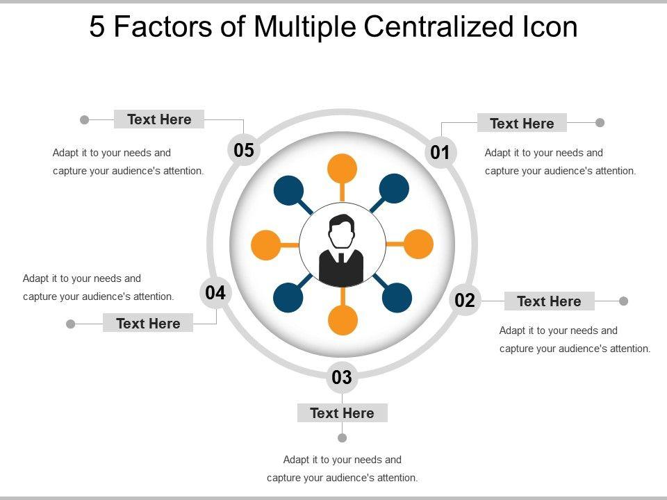 5_factors_of_multiple_centralized_icon_powerpoint_slide_show_Slide01