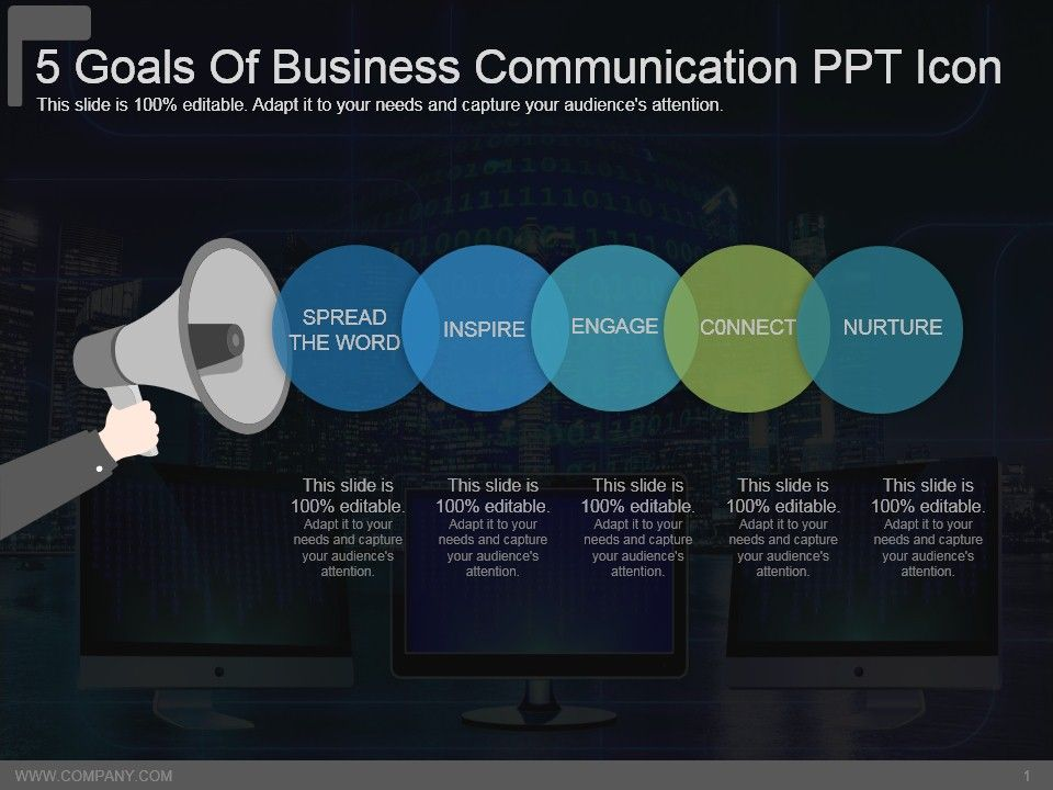 5_goals_of_business_communication_ppt_icon_Slide01