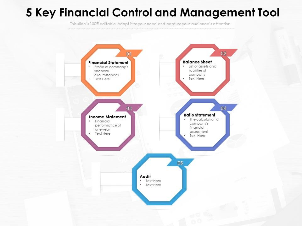5 Key Financial Control And Management Tool