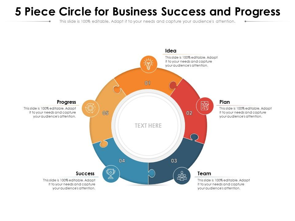 5 Piece Circle For Business Success And Progress