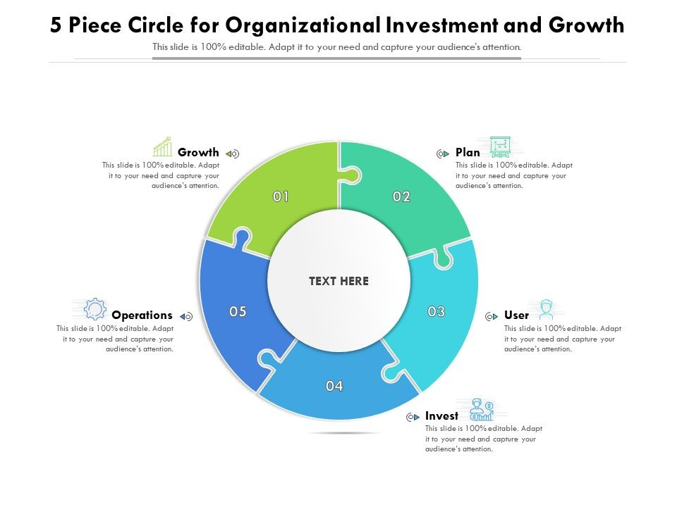 5 Piece Circle For Organizational Investment And Growth