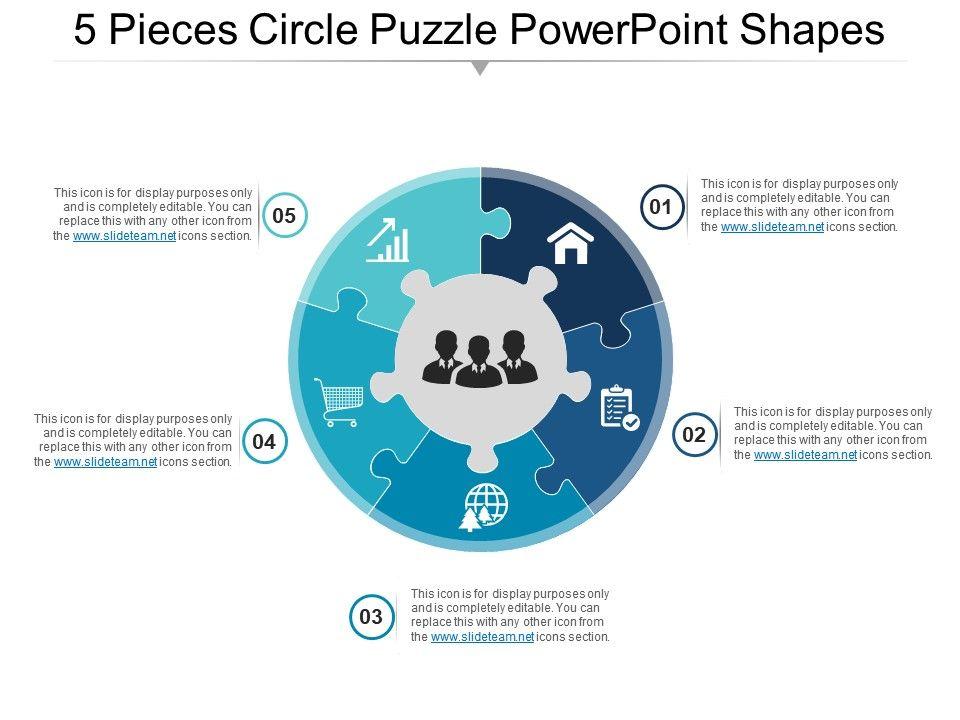 5_pieces_circle_puzzle_powerpoint_shapes_Slide01