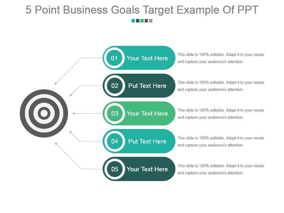 5_point_business_goals_target_example_of_ppt_Slide01