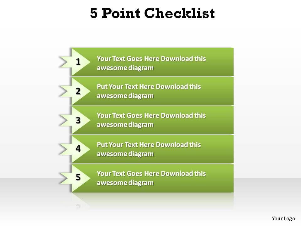 5_point_checklist_slides_presentation_diagrams_templates_powerpoint_info_graphics_Slide01