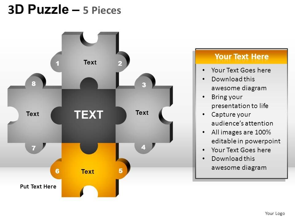 5 Puzzle Pieces Powerpoint Presentation Slides Slide07