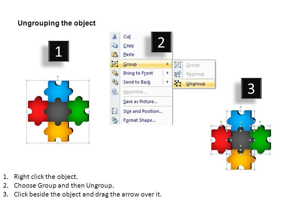 5 puzzle pieces powerpoint presentation slides presentation