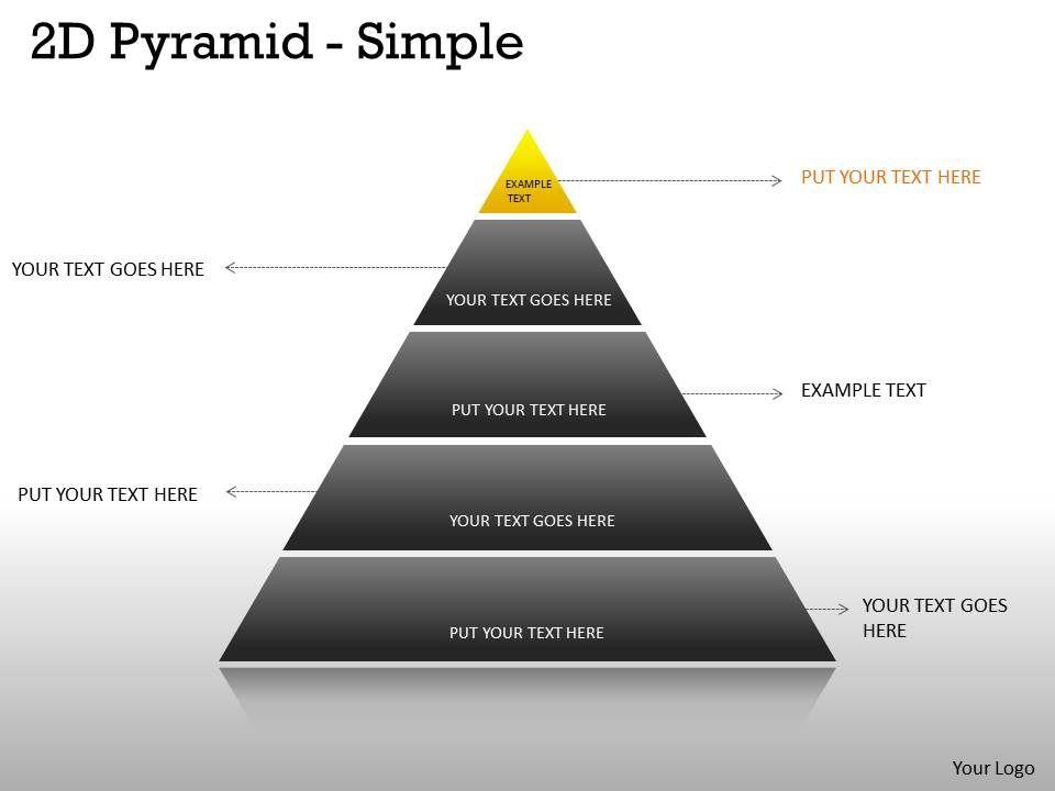 5 Staged Business Pyramid Design Slide01 Slide02 Slide03