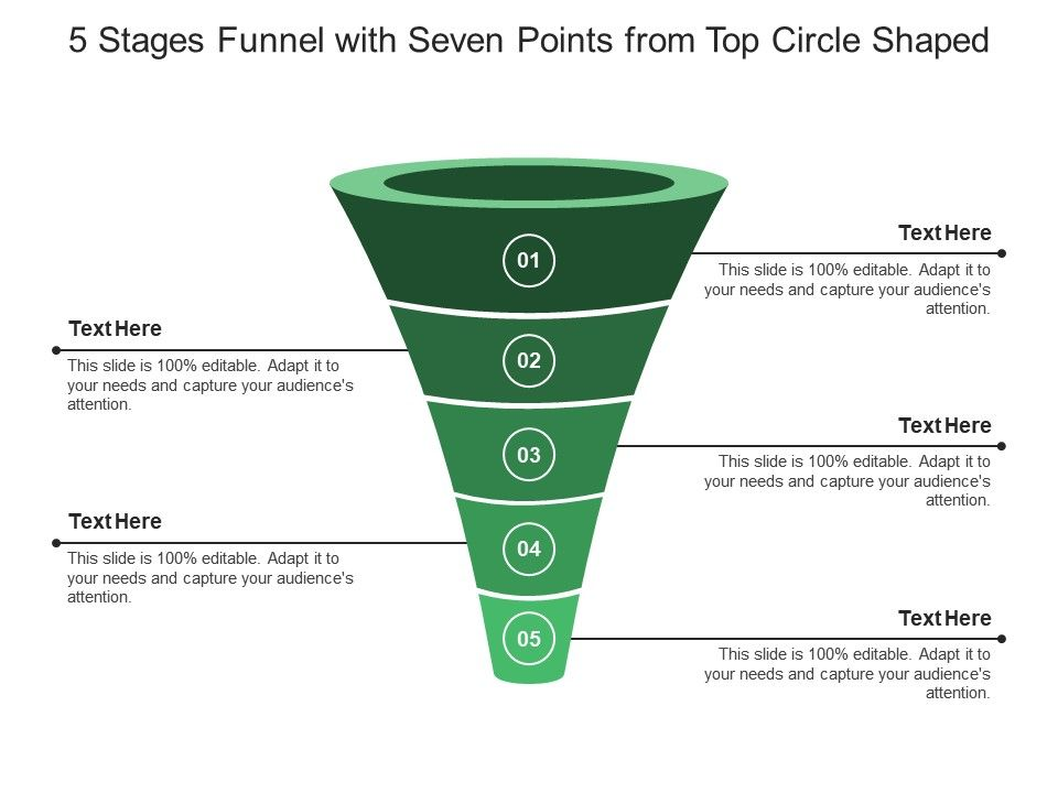 5_stages_funnel_with_seven_points_from_top_circle_shaped_Slide01