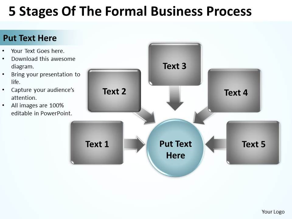5 stages of the formal business process powerpoint templates ppt, Modern powerpoint