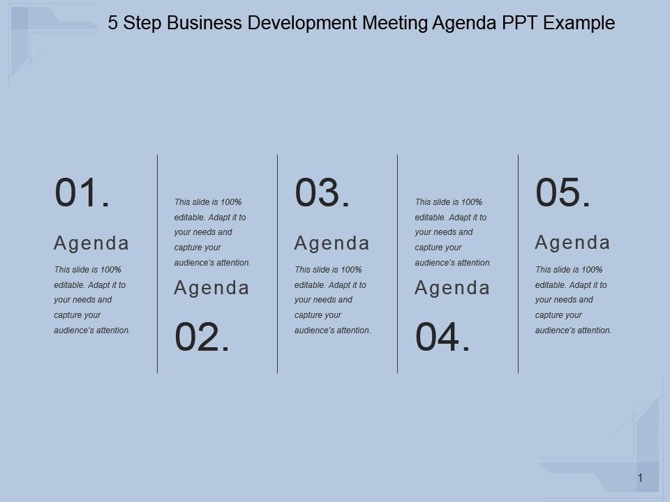 5_step_business_development_meeting_agenda_ppt_example_slide01 5_step_business_development_meeting_agenda_ppt_example_slide02