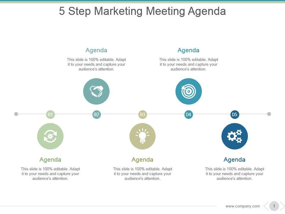 5 Step Marketing Meeting Agenda Sample Of Ppt Presentation ...