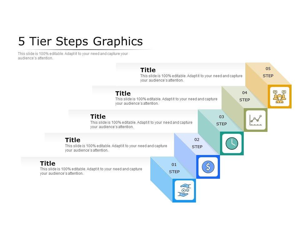 5 Tier Steps Graphics