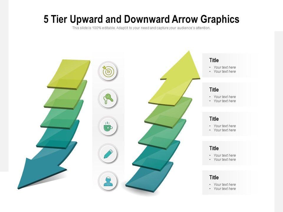 5 Tier Upward And Downward Arrow Graphics
