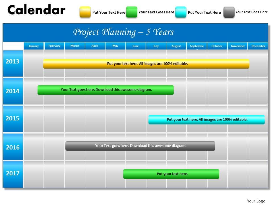 5 year planning gantt chart powerpoint slides gantt ppt templates, Powerpoint templates