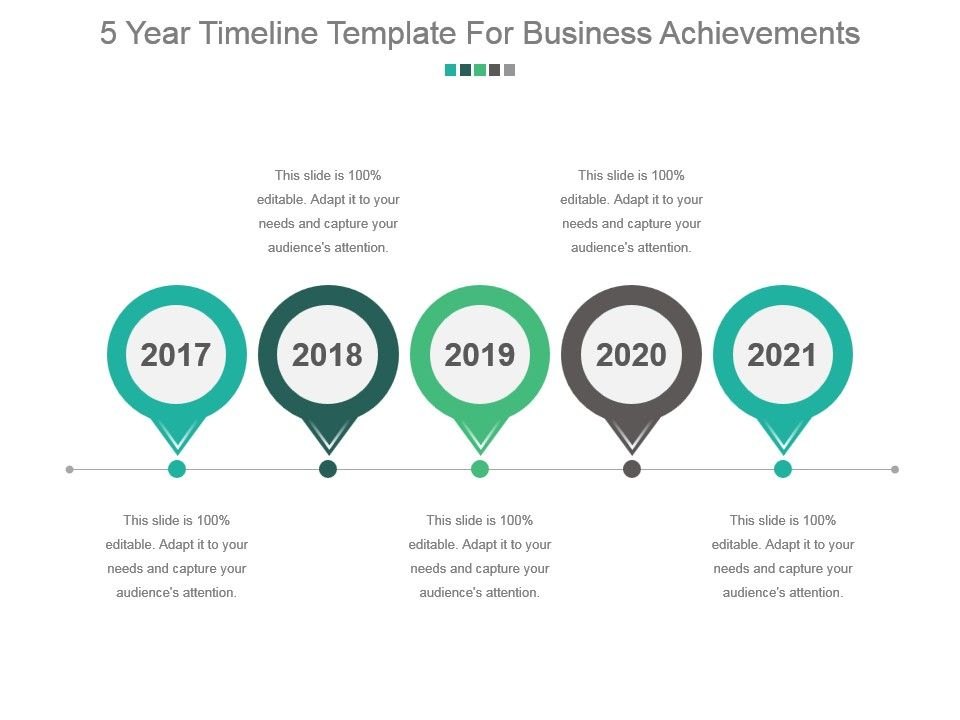 5 Year Timeline Template For Business Achievements Sample