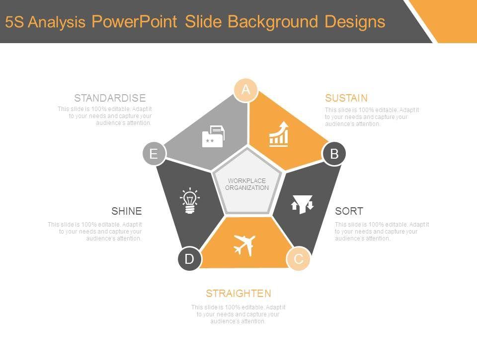 5s analysis powerpoint slide background designs | powerpoint, Modern powerpoint