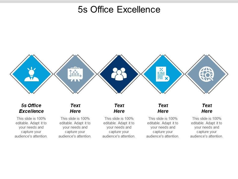 5s Office Excellence Ppt Powerpoint Presentation Pictures