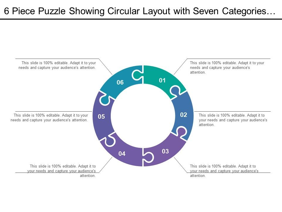 29640538 style puzzles circular 6 piece powerpoint presentation