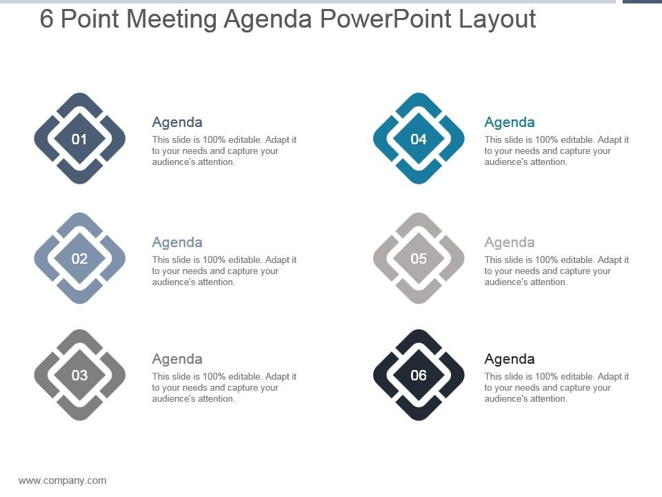 6_point_meeting_agenda_powerpoint_layout_Slide01.  6_point_meeting_agenda_powerpoint_layout_Slide02.  6_point_meeting_agenda_powerpoint_layout_Slide03