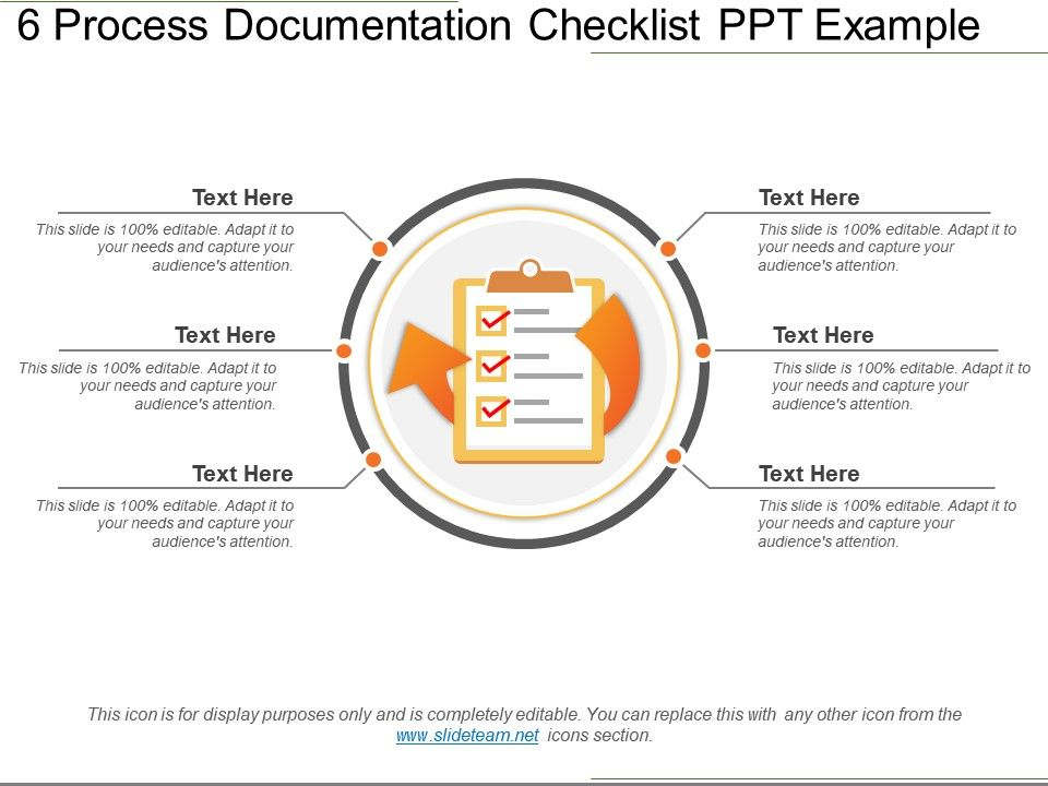 Process Documentation Checklist Ppt Example Template - Process documentation example