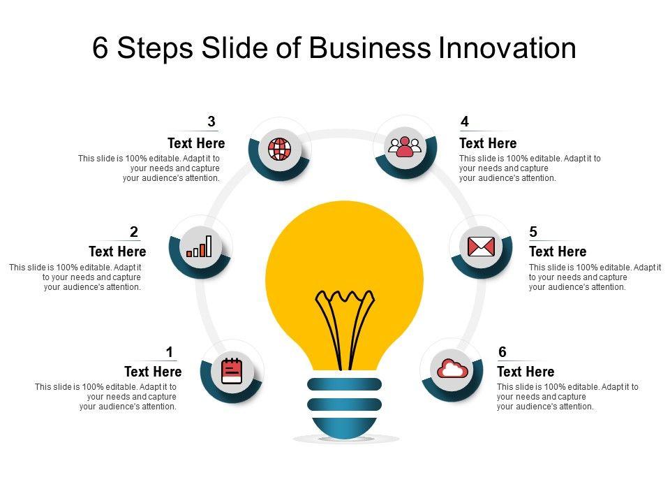 6 Steps Slide Of Business Innovation
