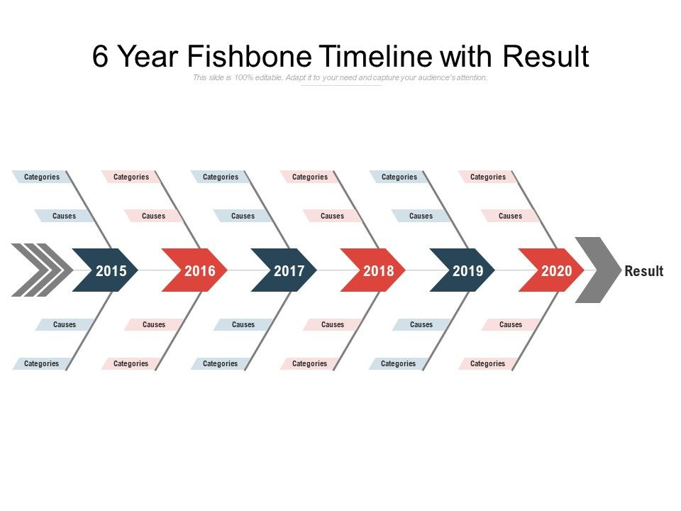 6 year fishbone timeline with result