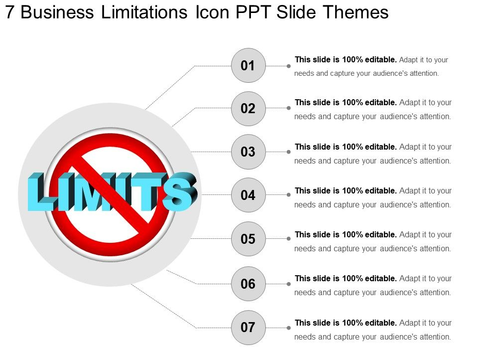 7_business_limitations_icon_ppt_slide_themes_Slide01