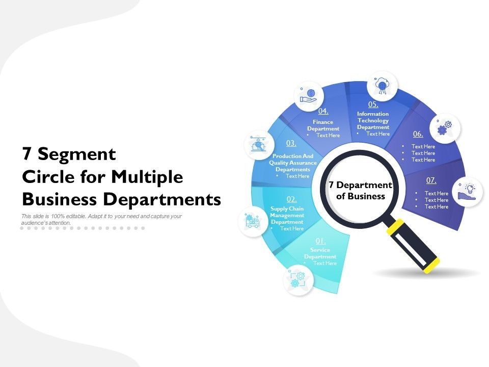 7 Segment Circle For Multiple Business Departments