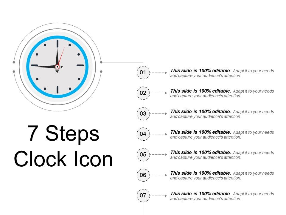 7_steps_clock_icon_sample_presentation_ppt_Slide01
