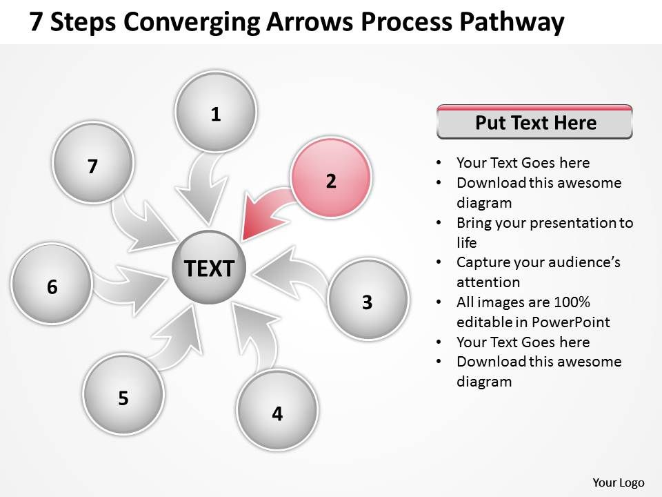 7_steps_coverging_arrows_process_pathway_circular_flow_chart_powerpoint_slides_Slide04