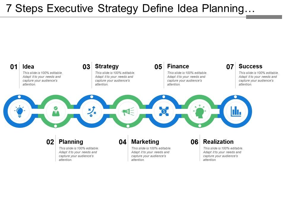 7_steps_executive_strategy_define_idea_planning_strategy_marketing_finance_and_success_Slide01