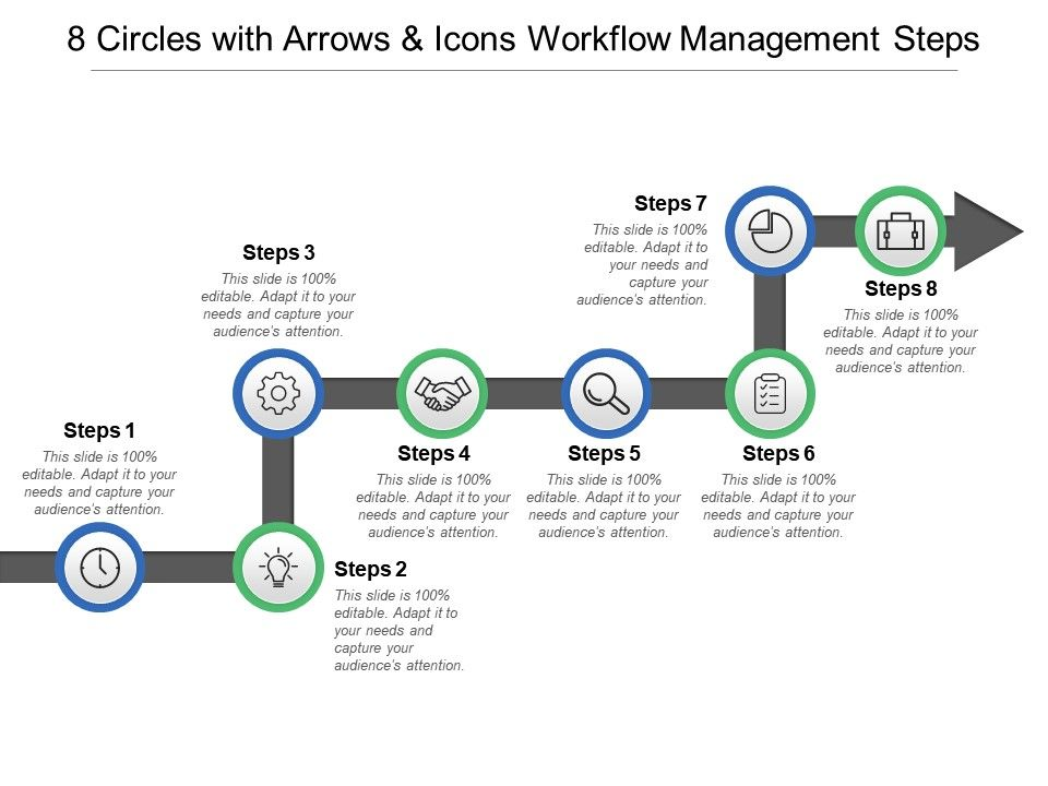 8_circles_with_arrows_and_icons_workflow_management_steps_Slide01
