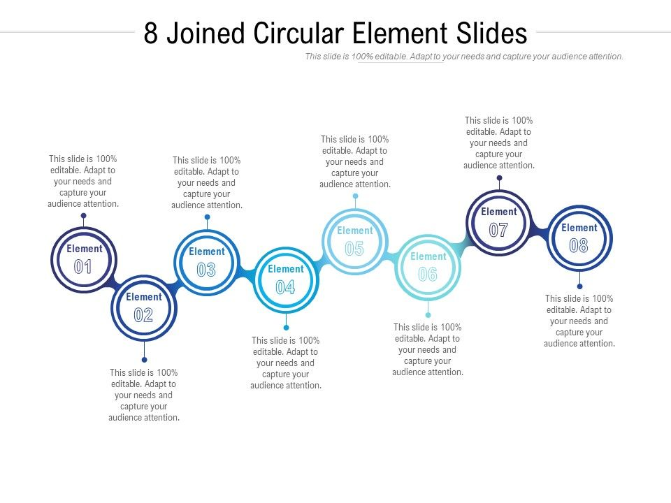 8 Joined Circular Element Slides