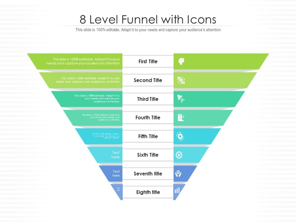 8 Level Funnel With Icons