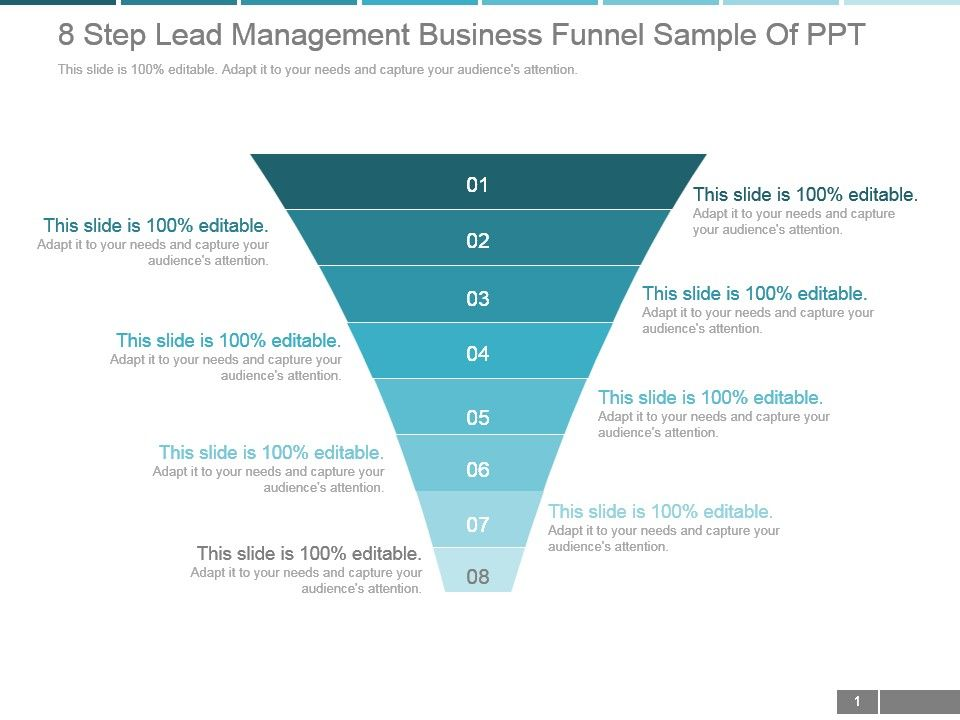 8_step_lead_management_business_funnel_sample_of_ppt_Slide01
