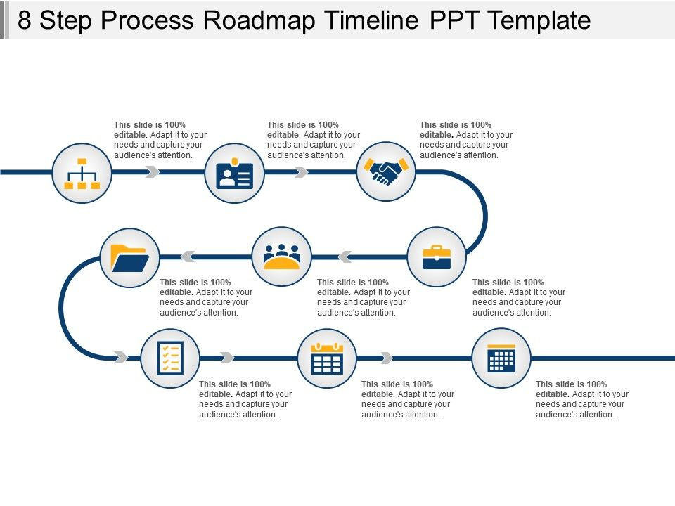 8 step process roadmap timeline ppt template powerpoint templates