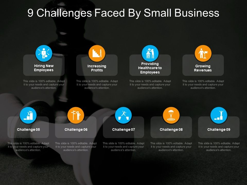 9 Challenges Faced By Small Business | PowerPoint Templates