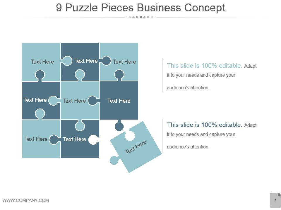9 Puzzle Pieces Business Concept Powerpoint Images Powerpoint