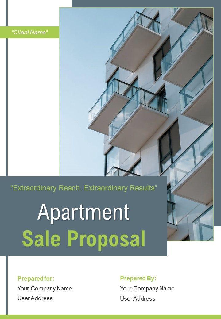 A4 Apartment Sale Proposal Template