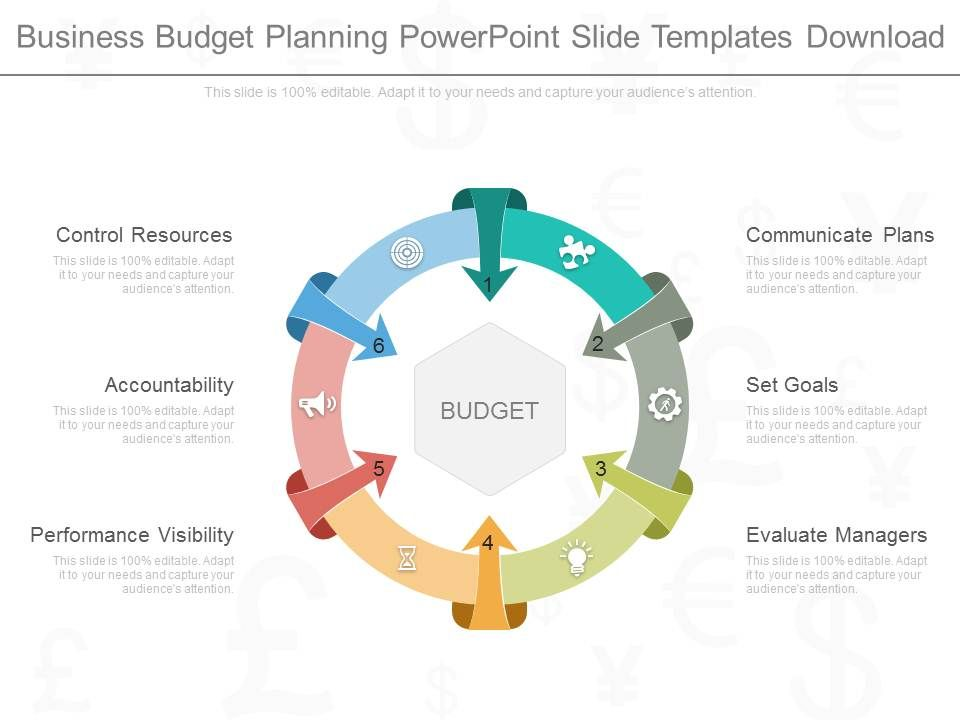 A Business Budget Planning Powerpoint Slide Templates Download