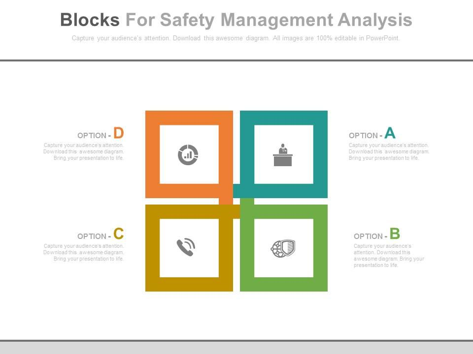 A four blocks for safety management analysis flat for 4 blocker template