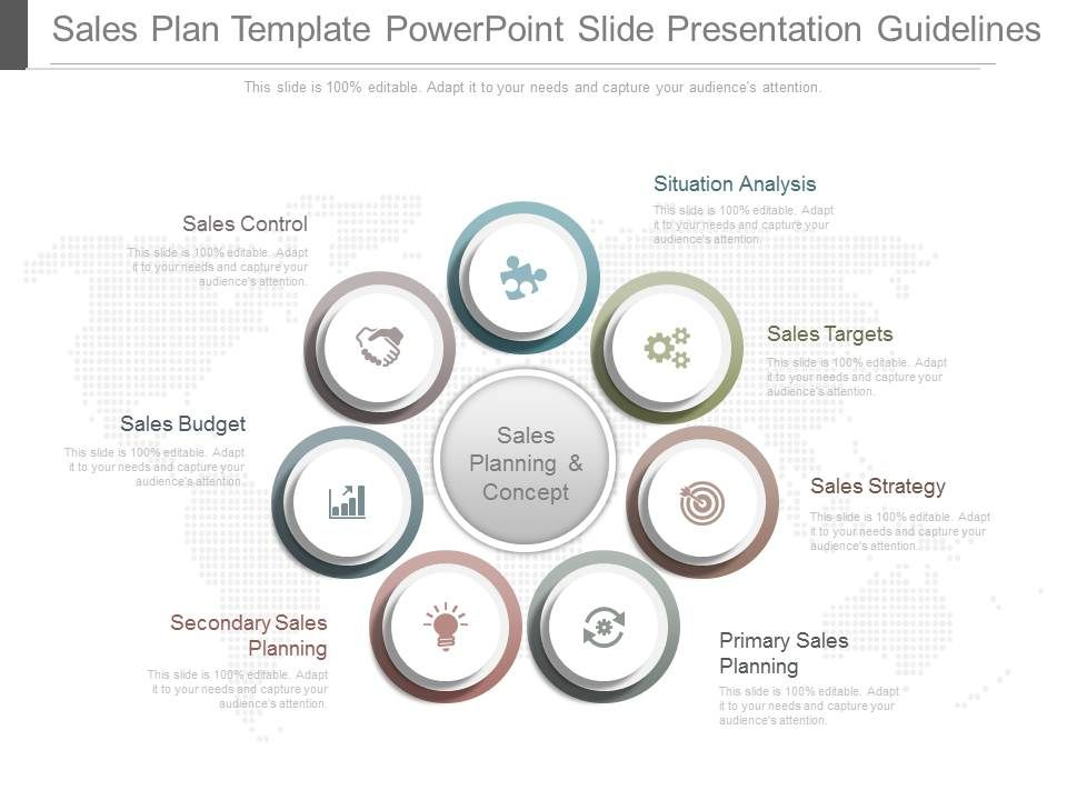 A Sales Plan Template Powerpoint Slide Presentation
