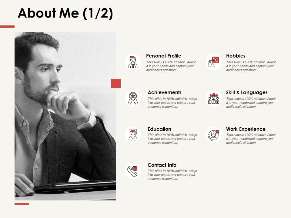 about me personal profile f287 ppt powerpoint presentation
