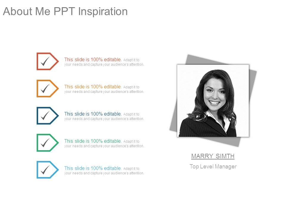 about me ppt inspiration powerpoint presentation templates ppt